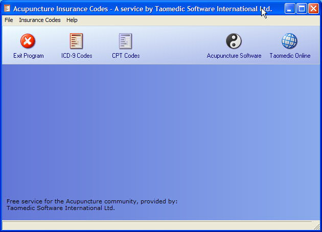 AIC - Acupuncture Insurance Codes 1.00 screenshot